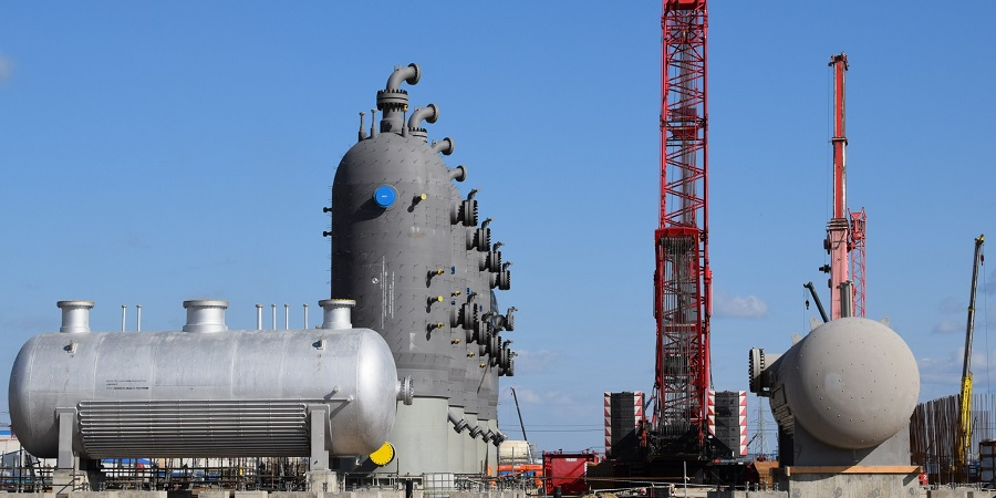 Адсорберы для осушки и очистки сырьевого газа установлены на 6-й технологической линии Амурского ГПЗ
