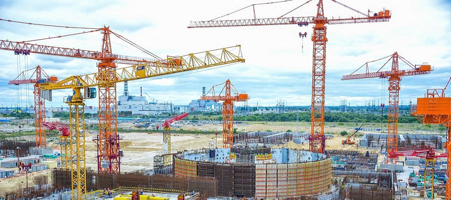 На строящемся энергоблоке Курской АЭС-2 смонтировали опорную ферму реактора