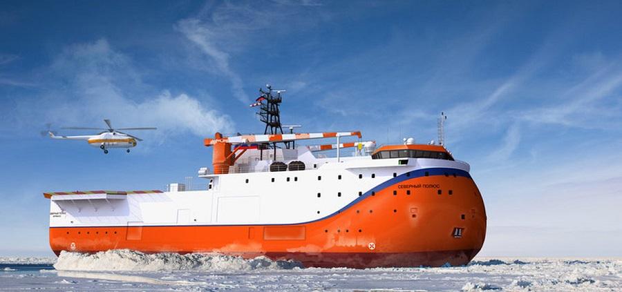 Ледостойкую платформу Северный полюс заложили в Санкт-Петербурге на Адмиралтейских верфях