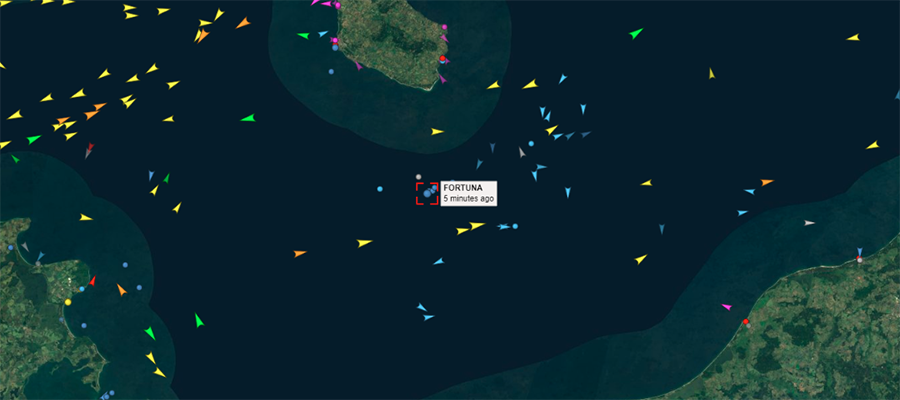 Fortuna started working at the Nord Stream 2 construction site in Danish waters