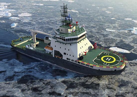 В г Санкт-Петербурге спустили на воду головной военный ледокол нового поколения «Илья Муромец»