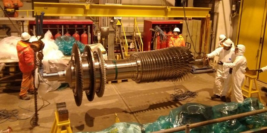 На ОБТК проекта Сахалин-2 завершились работы по капремонту газотурбинного генератора