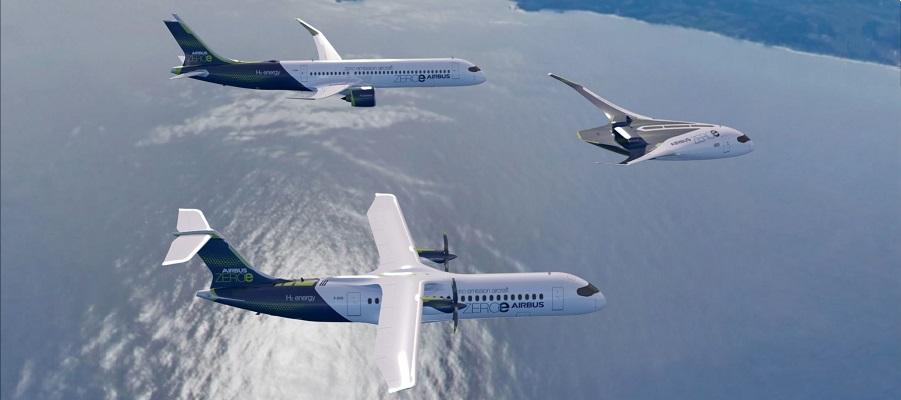 Airbus удивила прототипами самолетов на водородном топливе. Подробности