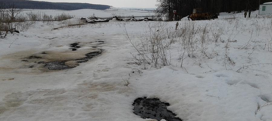В Татарстане произошел разлив нефтепродуктов