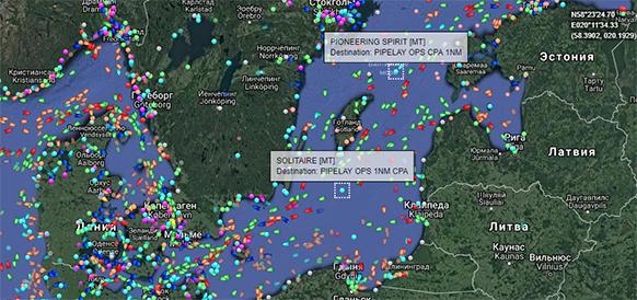 Новый рубеж. На дно Балтийского моря уложено порядка 700 км по обеим ниткам газопровода Северный поток-2