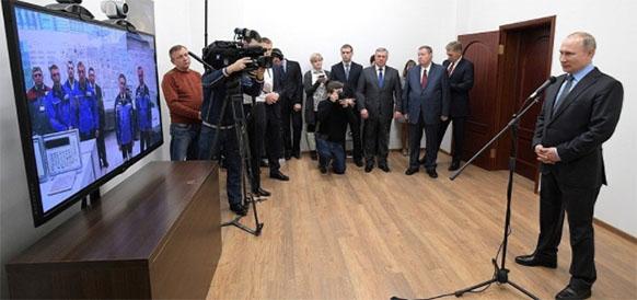 V.Putin gave the start to the program of bringing up Rostov-4 to design power