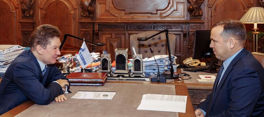 Губернатор Курганской области и А. Миллер обсудили планы по повышению печально низкого уровня газификации региона