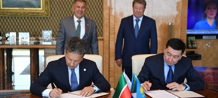 Татнефть и КазМунайГаз подписали меморандум о взаимопонимании по геологоразведке, добыче и цифровизации