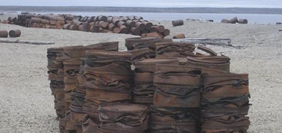 Экологический взвод СФ подготовил к вывозу из Арктики более 30 морских контейнеров с металлоломом
