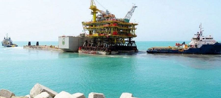 Petronas launched another oil production platform in the Turkmen sector of the Caspian Sea