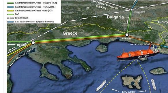 Греция подготовят c Болгарией проект плавучего СПГ-терминала в г Александруполисе, а не газопровода с РФ