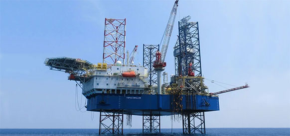At Etinde block, Cameroon, started drilling an appraisal well