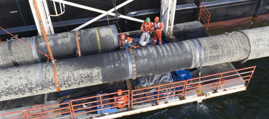 Хроники МГП  Северный поток-2 на 10 июня 2021 г. Надводный захлест на 2-й нитке завершен силами ТУБ Фортуна. Черский строит 1-ю нитку