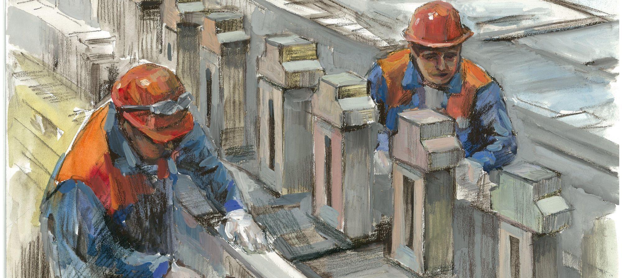 Крупнейшие индустриальные стройки страны становятся объектами изобразительного искусства