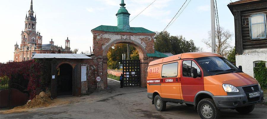 Мособлгаз газифицировал Ново-Никольский собор на территории Можайского Кремля