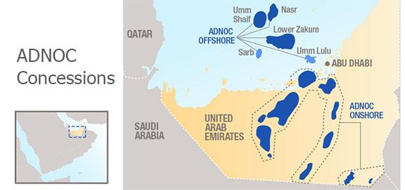 Total идет вслед за Eni. Компания вошла в 2 концессионных соглашения по месторождениям на шельфе Абу-Даби