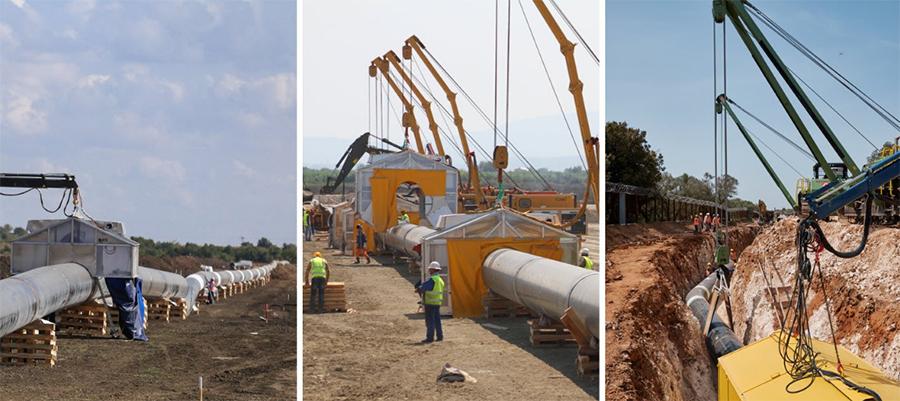 На сухопутном участке газопровода TAP выполнено около 99% сварочных работ