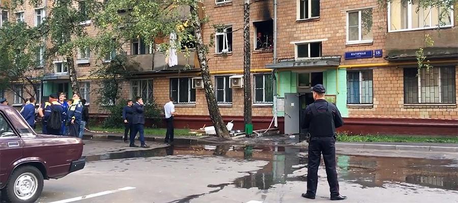 МЧС: причиной взрыва газа на юго-западе Москвы стало нарушение правил пользования газовым оборудованием