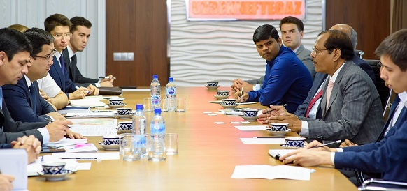 Uzbekneftegaz discussed the cooperation opportunities with French Beicip Franlab and Indian ONGC Videsh