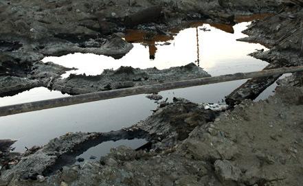 На Харьягинском месторождении произошёл разлив нефтепродуктов