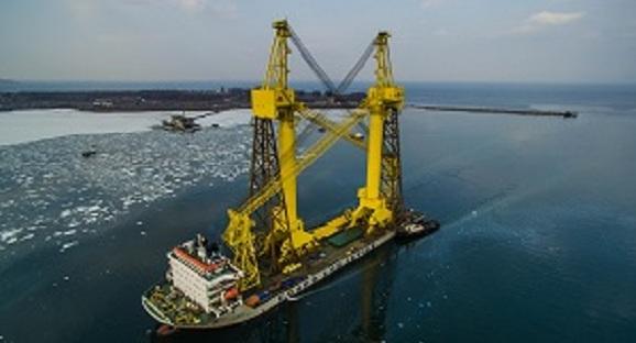 Посылка из Китая. Судостроительный комплекс Звезда получил еще 2 новых башенных крана