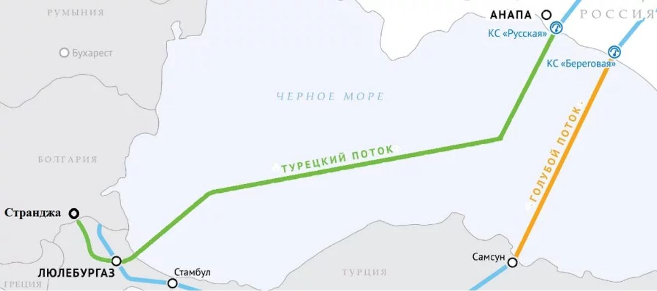 А. Миллер. Газпром увеличил загрузку газопровода Турецкий поток в 2,2 раза за 2020 г.