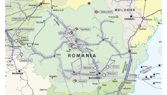 Импорт природного газа в Румынии за 2 месяца 2017 года вырос почти на 300 %