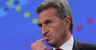 Еврокомиссар Г.Эттингер предложил увеличить резервы газа в Европейских ПХГ. ЕС не верит Украине, а в Газпроме рады таким пожеланиям