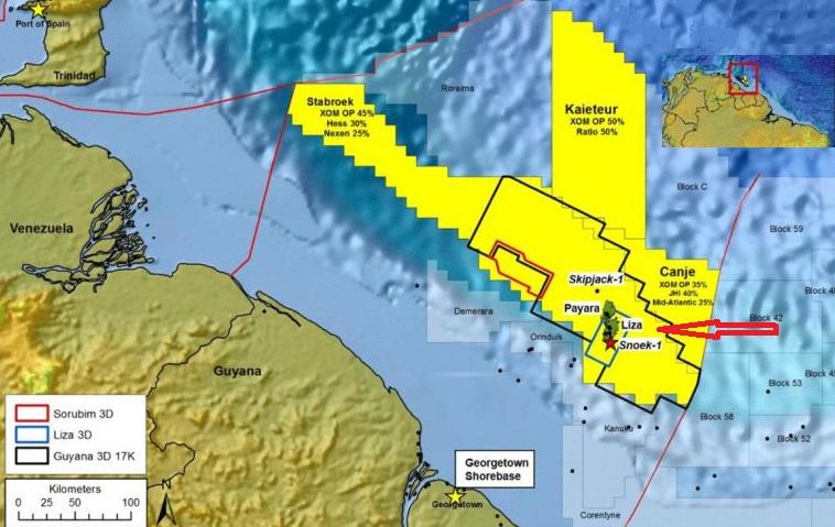 ExxonMobil разведала еще немного нефти на спорном с Венесуэлой шельфе Гайаны