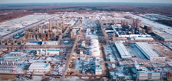 Строительство ЗапСибНефтехим идет полным ходом - общий прогресс работ по проекту составил 72,3%. ВИДЕО