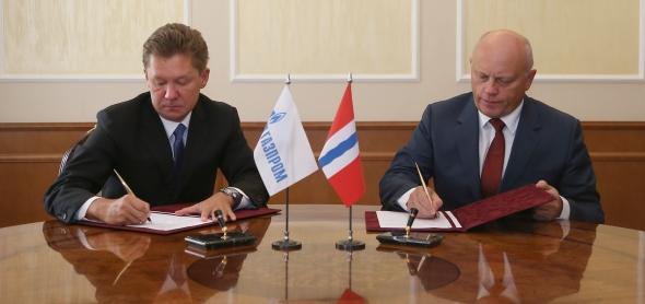 Газпром и Омская область подписали программу газификации региона до конца 2020 г и договорились нарастить выпуск местной продукции для использования в рамках Восточной газовой программы