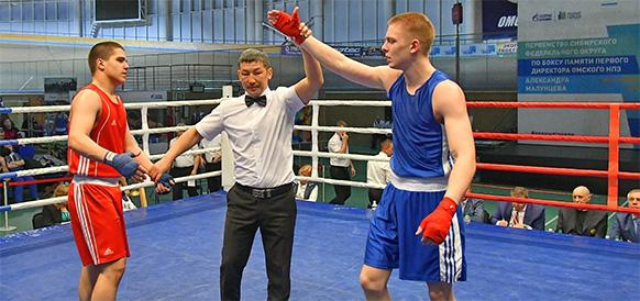 Омский НПЗ поддержал первенство Сибирского федерального округа по боксу