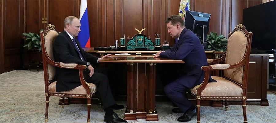 В. Путин выслушал доклад А. Миллера о работе Газпрома в 2019 г. и одобрил начало проектно-изыскательских работ для газопровода Сила Сибири-2