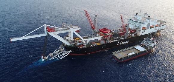 Allseas pipelay vessel Audacia began its work on the Nord Stream 2