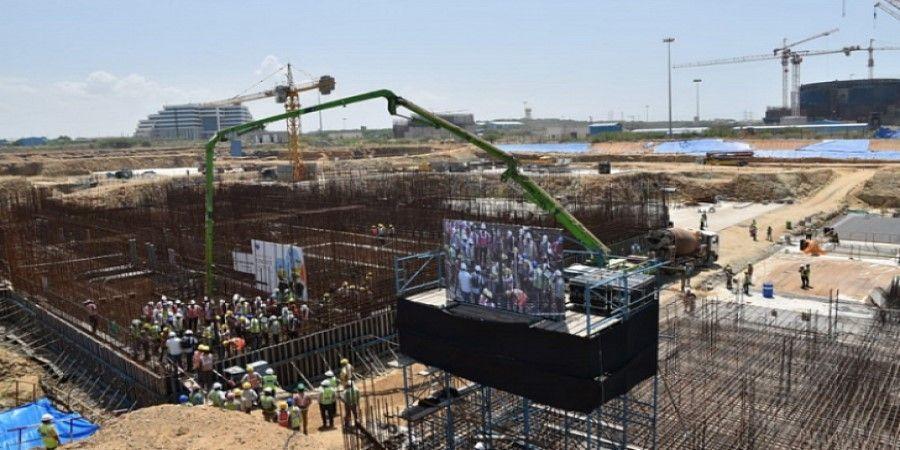 В Индии началась 3-я очередь строительства АЭС «Куданкулам». Строители возводят 5-й энергоблок