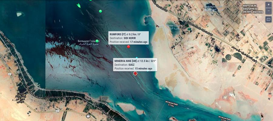 Новые проблемы в Суэце. 2 нефтеналивных танкера затруднили проход судов по каналу
