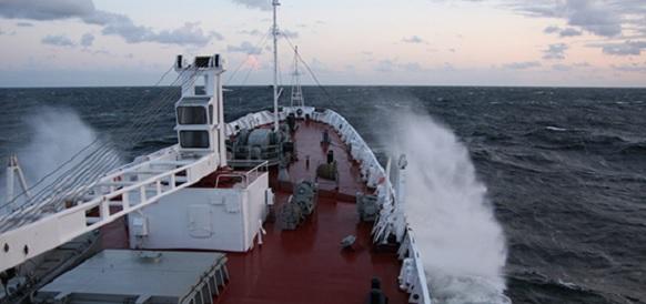 Океанографическое исследовательское судно «Адмирал Владимирский» следует в Северном море и скоро приступит к прохождению балтийской проливной зоны