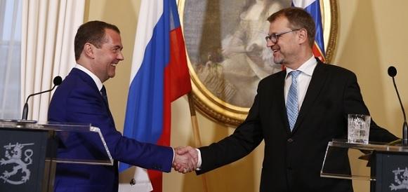 Северный поток-2, Красный бор и АЭС. Премьер-министры РФ и Финляндии Д. Медведев и Ю. Сипиля обсудили сотрудничество по ключевым проектам