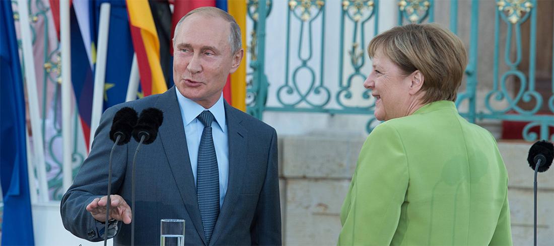 По телефону. В. Путин и В. Меркель обсудили транзит газа из России в ЕС через территорию Украины