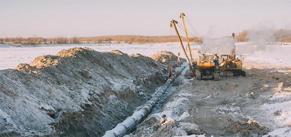 Сахатранснефтегаз завершает работы по ремонту участка подводного газопровода, проходящего по дну р. Лена