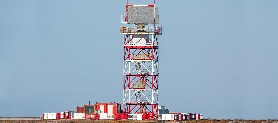 Расчеты комплекса Сопка-2 ВВО провели радиолокационную разведку воздушного пространства над Арктической территорией