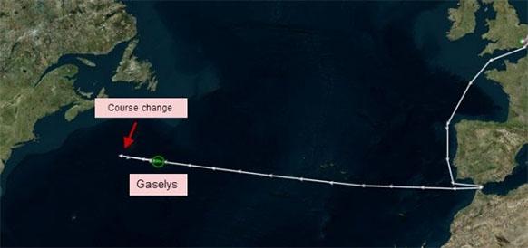 Что это было? Танкер, возможно перевозящий газ с проекта Ямал СПГ, развернулся, не доходя совсем немного до побережья США