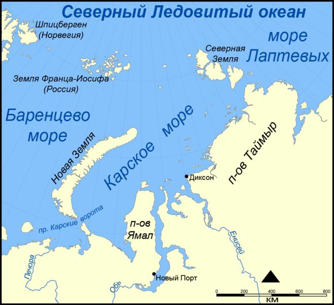 Роснефть направит 1,5 млрд рублей на изучение Карского моря