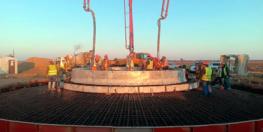 НоваВинд завершила устройство фундаментов ветроэнергетических установок на Марченковской ВЭС