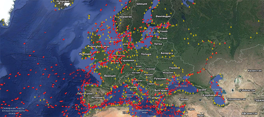 Dozens of tankers are at anchor around Europe as onshore storage hits limit