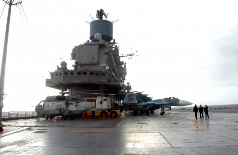 Адмирал Кузнецов объединился с группировкой кораблей ВМФ России в Средиземном море
