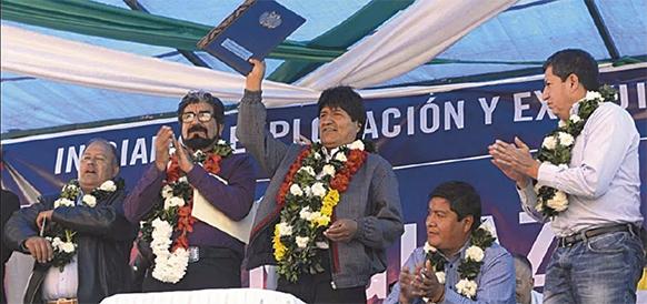 Без Газпрома. Президент Боливии Э. Моралес подписал закон, утверждающий контракт на разработку газового блока Иньигуасу