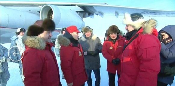 В. Путин на острове Александры провел совещание по вопросу комплексного развития Арктики