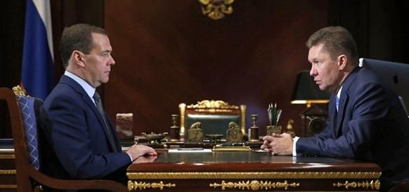 Зима близко. Глава Газпрома А. Миллер проинформировал Д. Медведева о готовности объектов Единой системы газоснабжения России к холодам