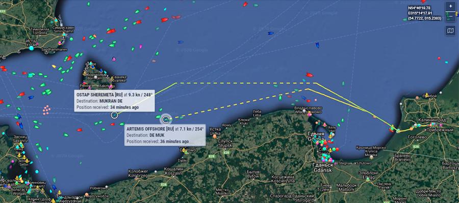 Остап Шеремета и Artemis Offshore идут в Мукран. Хроники МГП Северный поток-2 за 4-5 ноября 2020 г.